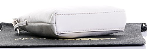Primo Sacchi® Echte italienische weiches Leder, kleine / Micro Cross Body oder Umhängetasche Handtasche.Enthält Marken schützenden Aufbewahrungstasche. beige