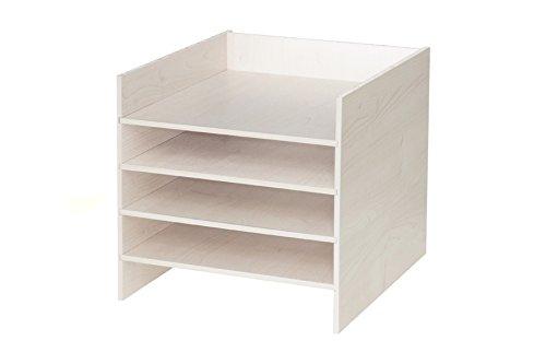 Ikea Kallax Expedit Regal Einsatz Ablage Papierfach Papierregal Postfach Sortierfach Scrapbooking Papier Fach Aufbewahrung Dokumentenablage Fachteiler für 5 Einzelfächer 33,5 x 33,5 x 38 cm Birke Natur Holz