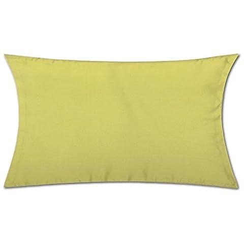 Kissenhülle ( 100 Größen und Farben ) mit und ohne Füllkissen, Serie: Ellen, Kissenbezug Dekokissen, Auswahl: 40x80cm ohne Füllung grün - apfelgrün