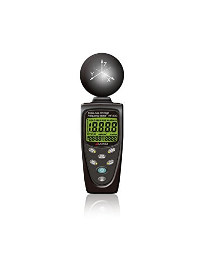 hf-b3g Triple Axis HF RF Power Meter Analysegerät und Detektor Messen EMF radiation-cell phones-smart meters-cell towers-wifi-microwave-blouetooth-calibrated-used für EMF Home inspections-free Unterstützung (Strahlung Der Frequenz Meter)