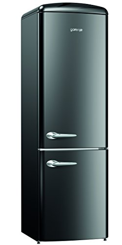 gorenje-onrk193bk-black-a-frost-free-retro-fridge-freezer-with-2-year-warranty