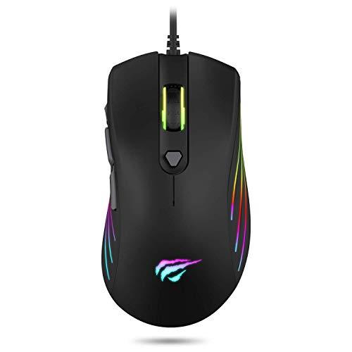 havit Ratón Gaming 7 Botones Mouse Gaming programables Iluminación RGB...