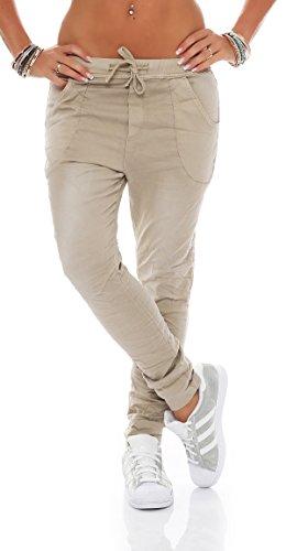 SKUTARI Damen Sporthose Drop Crotch Boyfriend Yoga Slacks Hose Baggy Harem Style Freizeithose Jogginghose Pumphose Aladinhose Sweatpants