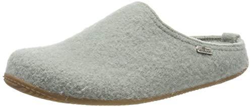 Living Kitzbühel Unisex-Erwachsene Pantoffel unifarben mit Fußbett Pantoffeln, Grün (Lily pad 0415), 42 EU