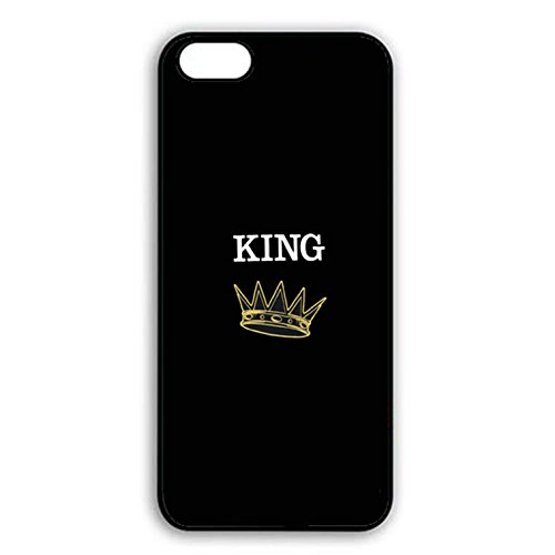 Iphone 7 Case,Personality Prime King Queen Crown Couple Phone Case Cover for Iphone 7 Best Friends Boyfriend Girlfriend Lovers Shell Cover Color010d