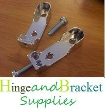 Hinge and Bracket Supplies Oval End Supports Pack 2 With M6 Screw Chrome For Wardrobe Rail 30Mmx15Mm by Hinge and Bracket Supplies -