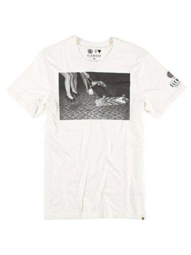 Herren T-Shirt Element Ep M. Veldam F T-Shirt Off White
