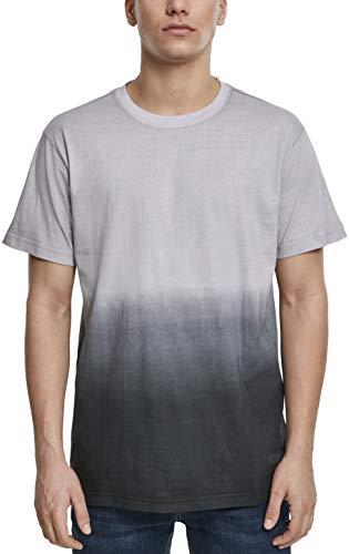 Urban Classics Herren T-Shirt Dip Dyed Tee Mehrfarbig (Grey/Black 01239) XX-Large (Herstellergröße:XXL) -