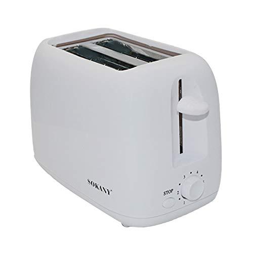 Toaster,Sandwichtoaster,Home Kitchen Edelstahl 2-Scheiben-Toaster mit 6 Betriebsarten für Bagels Toast Mehrkornbrotwaffeln EU-Stecker