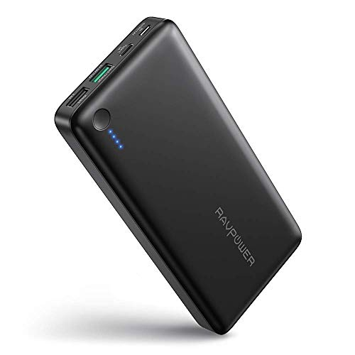 RAVPOWER Quick Charge 3.0 Caricatore Portatile 26800mAh Caricabatterie Qualcomm Certificato Porta Type C per iPhone Samsung ASUS LG HTC Nintendo Switch ECC