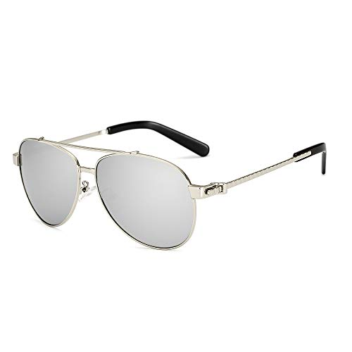 YJIU Sonnenbrille UV-Schutz Frauen verspiegelt Flache Sonnenbrille Trend Box Bunte Film Brille Modeschutz (Color : 4)