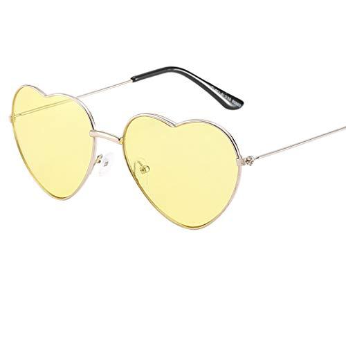 VRTUR 1 Stück Damen Metall Sonnenbrillen Nettes Herz-Form-Design Objektiv Outdoor Brillen Form...