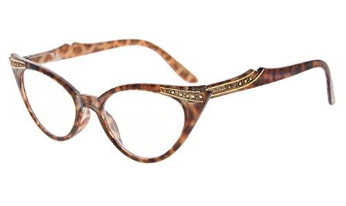 Eyekepper cateyes gafas de lectura para mujer (Tortuga, 0.50)