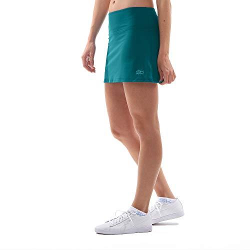 Sportkind Mädchen & Damen Tennis/Hockey/Golf Basic Rock mit Innenhose, Petrol grün, Gr. 128