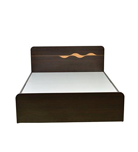 HomeTown Swril Queen Bed (Matt Finish, Brown)