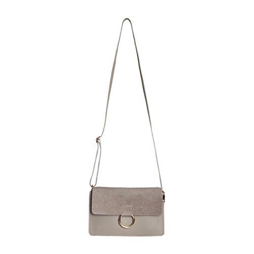 SKUTARI original Stella Piccola Leder Umhängetasche Damen, Beige | Crossbody Handtasche, Schultertasche, Tasche klein und groß | 24,5 x 18 x 8 cm (Gucci Kleine Tasche)