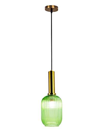 lantu creative Glas Pendelleuchte Nordischen Postmodernen Stil Deckenbeleuchtung Glas Leuchte für Home Office Schlafzimmer Café Einfache bar Lampen Dekorieren Beleuchtung Grüne Lampenschirme 13CM