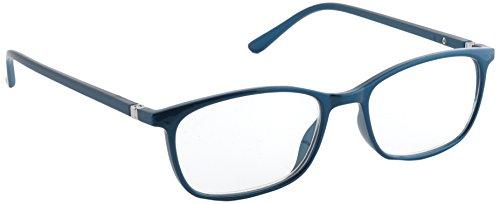 Pachleitner Elegante Lesehilfe mit Federscharnier und metallic Lackierung inklusive Etui, blau / +2.5 Dioptrien,