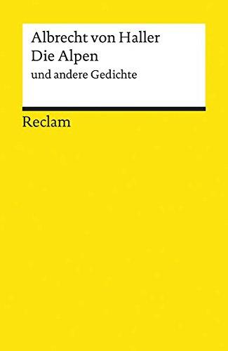 Die Alpen und andere Gedichte (Reclams Universal-Bibliothek)