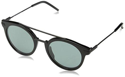 Fendi ff 0225/s qt 807, occhiali da sole uomo, nero (black/green), 49