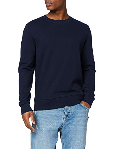 JACK & JONES Jjeholmen Sweat Crew Neck Noos, Suéter para Hombre, Azul Navy Blazer, Large