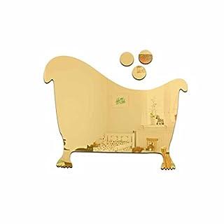 Winkey Dekoschild für Badezimmer, Bar, Restaurant, Spiegelwand, Acryl, Gold, Size:10 * 8cm