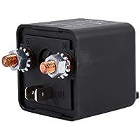 Keenso Universal Automobilrelais Schalter 12V 200A 4 Pin Starter Relaisschalter Auto Boot 200Amp Schwarz Schwer Pflicht Split Ladung Relais