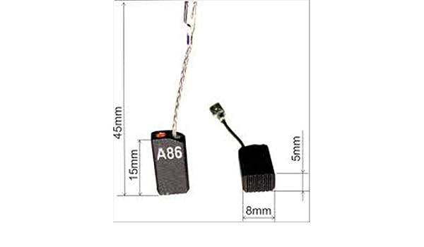 2x Balais Charbon Moteur Charbon Charbon plumes remplace Bosch 1607014116 1607014144