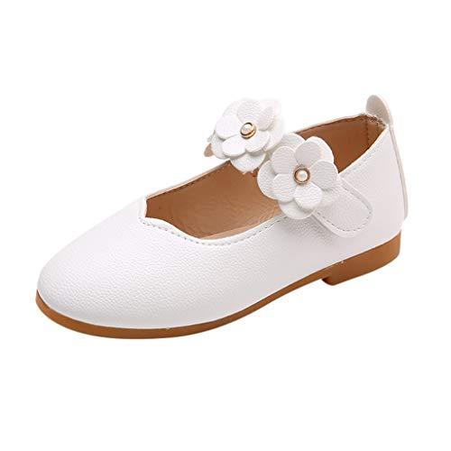 n Prinzessin Modisch Schnürhalbschuhe Kind Elegant Blumen Weich Einfarbig Freizeit Tanzschuhe Lederschuhe Kleinkind Bequem Süß Schuhe ()