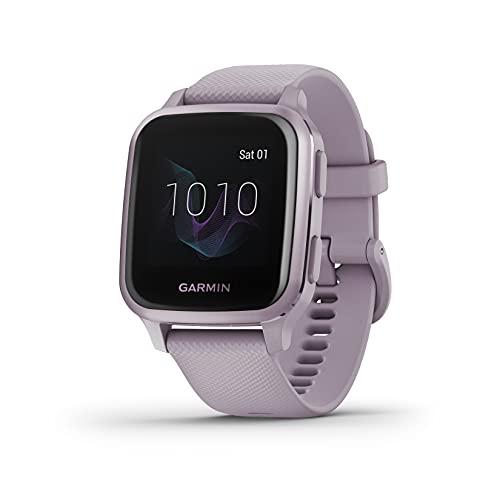 Oferta de Garmin Venu Sq, Reloj Inteligente con GPS, Lavanda