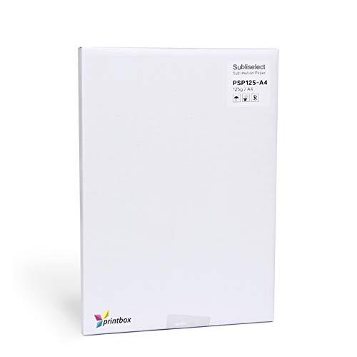 Premium Sublimationspapier 125g für Epson, Ricoh & Sawgrass, 100 Blatt DIN A4, schnelltrocknend & wischfest