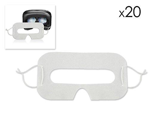 Preisvergleich Produktbild DSstyles VR Einweg Masken 20 Stück Hygiene Augenmasken Universal Gesicht Abdeckung für HTC Vive,  PSVR Playstation VR,  Oculus Rift