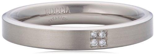 Boccia Damen-Ring Titan 4 Brillianten 0,02 Gr.53 0120-0153