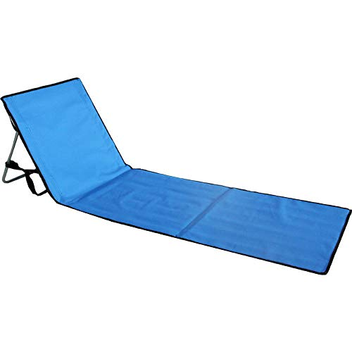 RTGFS Klappstuhl Tragbare Strandklappstühle Klappbarer Liegestuhl Aluminium Einzelliege Sofa Lounge Gartenmöbel Park- und StrandkorbDunkelblau