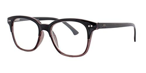 Two-Tone Lesebrille Lesehilfe Kunststoff schwarz grau inkl. Etui +1