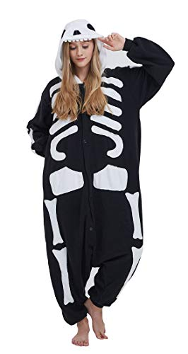 Pijama Onesie Adultos Mujer Cosplay Animal Disfraces Sleepwear Negro M