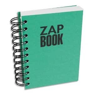 1 Zap Book A4 spirale bloc d'esquisse recyclé 80g 160pages coloris assortis