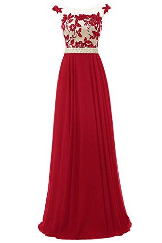 Bbonlinedress Robe de cérémonie Robe de demoiselle dhonneur forme empire longueur ras du sol Rouge Foncé