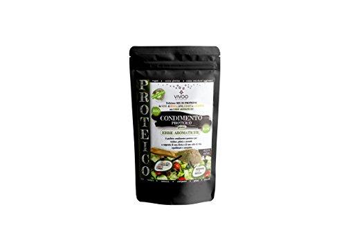 VIVOO RE-EVOLUTION | MIX/CONDIMENTO PROTEICO ERBE AROMATICHE| Biologico, Raw | Senza Zuccheri aggiunti | No: glutine, Latticini, Soia, OGM | Vegano, Kosher | Ricco di Nutrienti | Confezione 150 g cad.