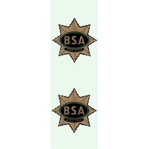 Singolo in Metallo segnalibro con nappa con BSA Gold Star # bok15