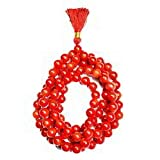 Rudra Retail Lab certified Taiwan Moonga Mala 6 M m (108+1) beads