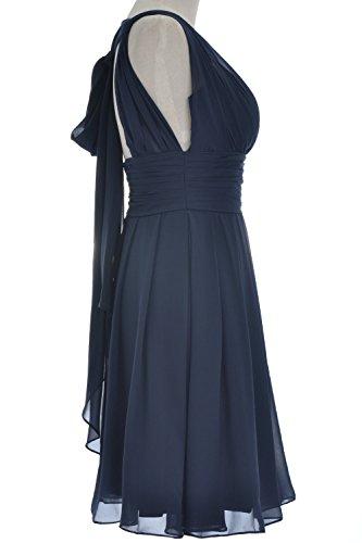 MACloth donne scollo a V Backless breve damigella d' onore vestito da festa di nozze da Cocktail abito Pink