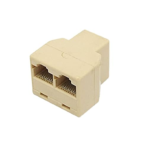 sourcingmap® Ethernet RJ45 3 Way Network Cable Splitter Extender Connector