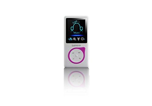 Lenco MP3-Player Xemio-668 - MP3-MP4-Player, 8 Gb Micro SD-Karte Inklusive kopfhörer - rosa - Micro-mp4-player
