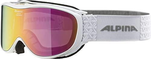 ALPINA Damen Challenge 2.0 MM Skibrille, White, One Size