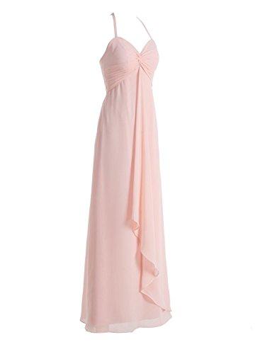 Bbonlinedress Robe de demoiselle d'honneur bretelles spaghetti longueur ras du sol Vert