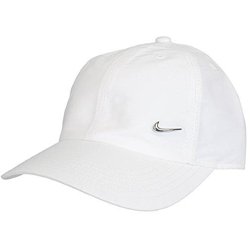NIKE Metal Swoosh Cappello Junior, Bianco