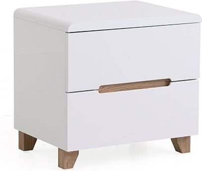 Urban Ladder Oslo Bed Side Table (White)