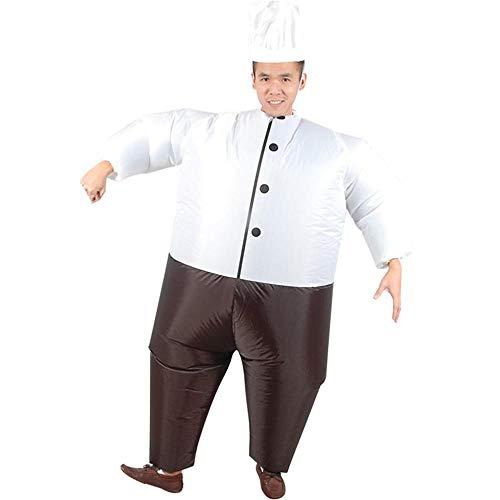 MIMI KING Aufblasbares Kochkostüm Für Erwachsene, Halloween Funny Cosplay, Mit Kochmütze