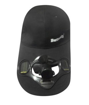 Baseball Hat / Cap with Solar Powered Cooling Fan - Black colour (55~58cm)  available at amazon for Rs.599